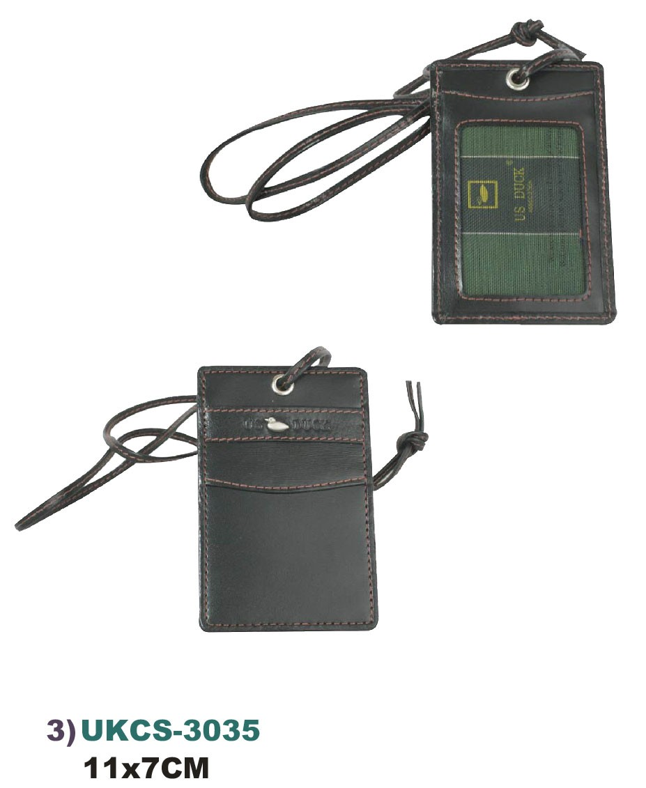 US DUCK UKCS-3035 Split Leather card Holder